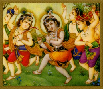 Krsna and residents of Goloka