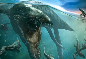 Artists Rendtion of a Pliosaur