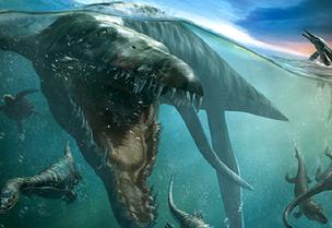 Artists Rendtion of a Pliosaur