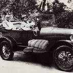 Srila Bhaktisiddhanta in Car