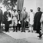 Srila Bhaktisiddhanta with Governor