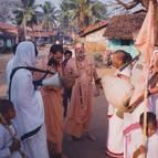 Swami B.B Vishnu leading harinama kirtana