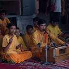 Gurukula Boys Singing Bhajans
