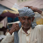 Man Tying Turban