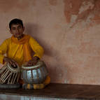 Boy Playing Tabla