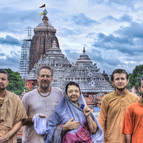 Our Devotees Outside the Jagannatha Temple