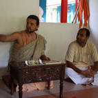 Giri Maharaja Giving Class with Sri Gopala Translating