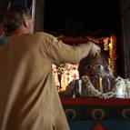 Jagadisvara Prabhu Bathing Govardhana