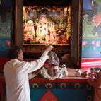 Sundara-krsna Prabhu Bathing Govardhana