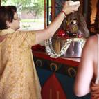 Dhira-lalita Mataji Bathing Govardhana