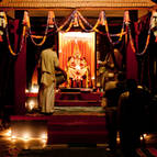 Arati and Puspanjali at the Puspa Samadhi