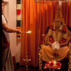 Dhira-lalita Mataji Offering Arati