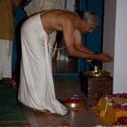 Balarama Prabhu Offering Puspanjali