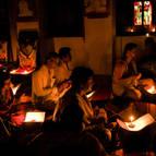 Devotees Singing Damodarastakam
