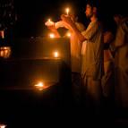 Syamasundara Prabhu Offering a Lamp