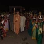 Giri Maharaja and Devotees Arriving at the Program