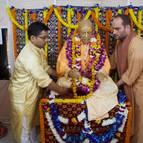 Srila Prabhupada Brought out onto His Veranda