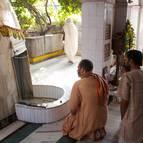 Devotees at Dasa Gosvami's Samadhi