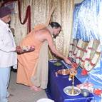 Giri Maharaja Offering Flowers to Deity Pictures