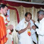 Srigopal Dasa being honoured