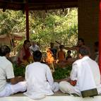 Attendees at the Yajna