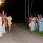 Some of the Devotees Awaiting the Arrival of Srila Guru Maharaja