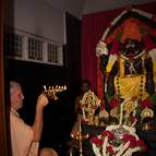 Srila Guru Maharaja offering Maha-Arati
