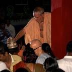 Srila Guru Maharaja Giving Satari to Guests