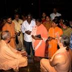 Srila Guru Maharaja Talkling to Guests