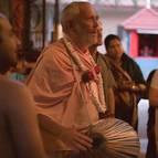 Guru Maharaja Leading Kirtana