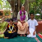 Guru Maharaja with Initiates