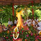 Devotees Performing Homa