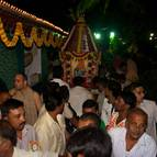 Devotees Chanting in front of the Ratha