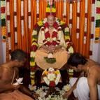 Decorating inside the Samadhi