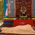 Guru Maharaja at the Samadhi of Srila Prabhupada