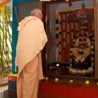 Guru Maharaja at Prabhupada's Samadhi