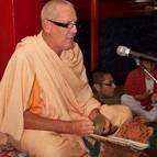 Guru Maharaja Leading Bhajanas