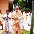 Guru Maharaja Arriving at the Temple Room