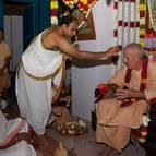 Sri Gopala and Madhumangala Prabhus Performing Adhivasa Puja