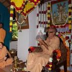 Guru Maharaja Shows the Book to the Devotees