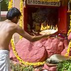 Advaita offering arati