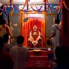 Guru Puja at the Samadhi