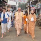 Guru Maharaja Leading Parikrama