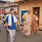 Guru Maharaja and Devotees on Parikrama