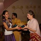 Claudia and Bhakta-priya Help With Prasadam