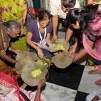 Jahnavi Dasi Distributing Prasadam