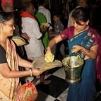 Krsna Kirtana Distributing Prasadam