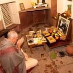 Srila Guru Maharaja Offering to Srila Prabhupada