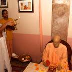 Marco Offering Arati to Srila Prabhupada