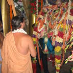 Giri Maharaja Taking Darsana of Sri Satyanarayana Swami